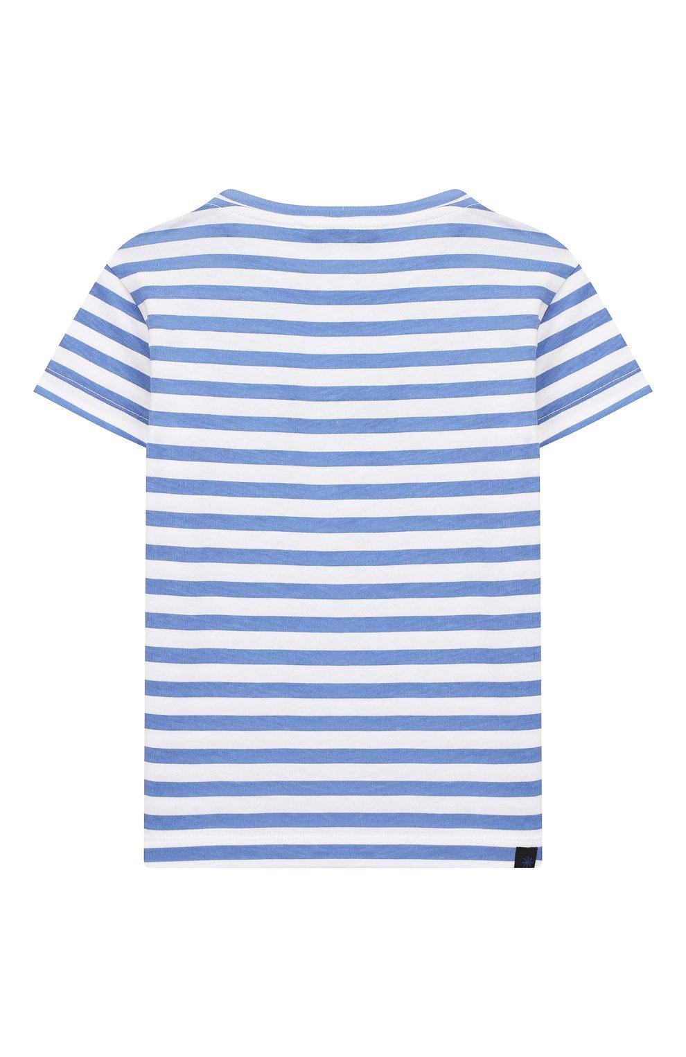 Детская хлопковая футболка MANUEL RITZ голубого цвета, арт. MR1022/2A-6A   Фото 2