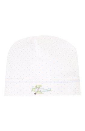 Детского хлопковая шапка MAGNOLIA BABY голубого цвета, арт. 597-50-LB | Фото 1