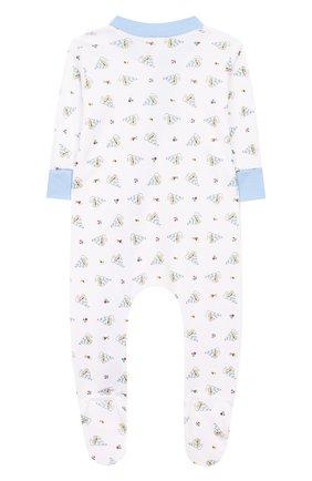 Детский хлопковый комбинезон MAGNOLIA BABY голубого цвета, арт. 837-428P-LB | Фото 2