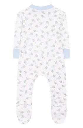 Детский хлопковый комбинезон MAGNOLIA BABY голубого цвета, арт. 597-428P-LB | Фото 2