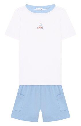 Детский хлопковая пижама MAGNOLIA BABY голубого цвета, арт. 837-102-LB | Фото 1
