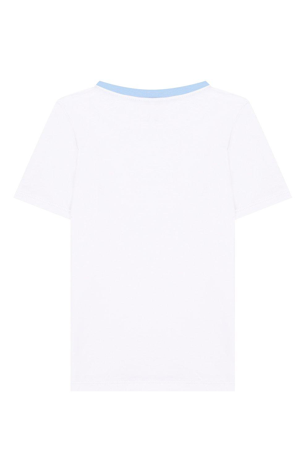 Детский хлопковая пижама MAGNOLIA BABY голубого цвета, арт. 837-102-LB | Фото 3 (Рукава: Короткие; Материал внешний: Хлопок)