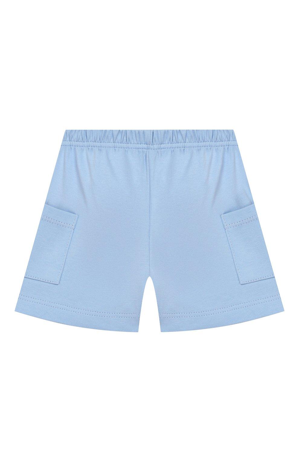 Детский хлопковая пижама MAGNOLIA BABY голубого цвета, арт. 837-102-LB | Фото 4 (Рукава: Короткие; Материал внешний: Хлопок)