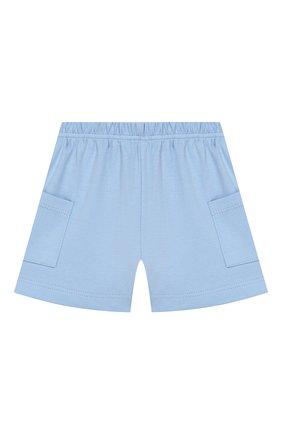 Детский хлопковая пижама MAGNOLIA BABY голубого цвета, арт. 837-102-LB | Фото 5 (Рукава: Короткие; Материал внешний: Хлопок)