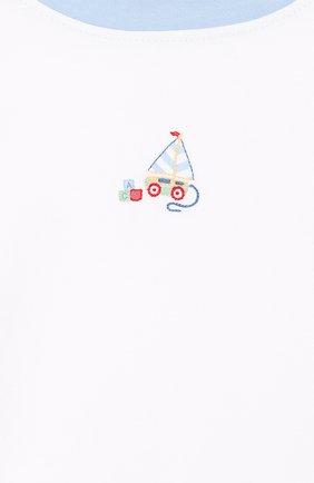 Детский хлопковая пижама MAGNOLIA BABY голубого цвета, арт. 837-102-LB | Фото 6 (Рукава: Короткие; Материал внешний: Хлопок)