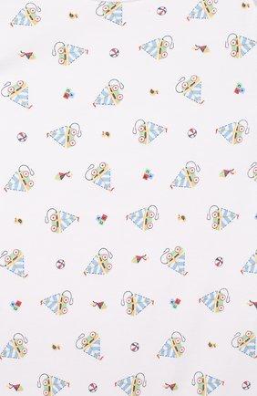 Детское хлопковый песочник MAGNOLIA BABY голубого цвета, арт. 837-979P-LB | Фото 3 (Рукава: Короткие; Материал внешний: Хлопок)