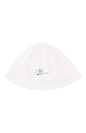 Детская хлопковая шапка MAGNOLIA BABY голубого цвета, арт. 597-53-LB | Фото 1