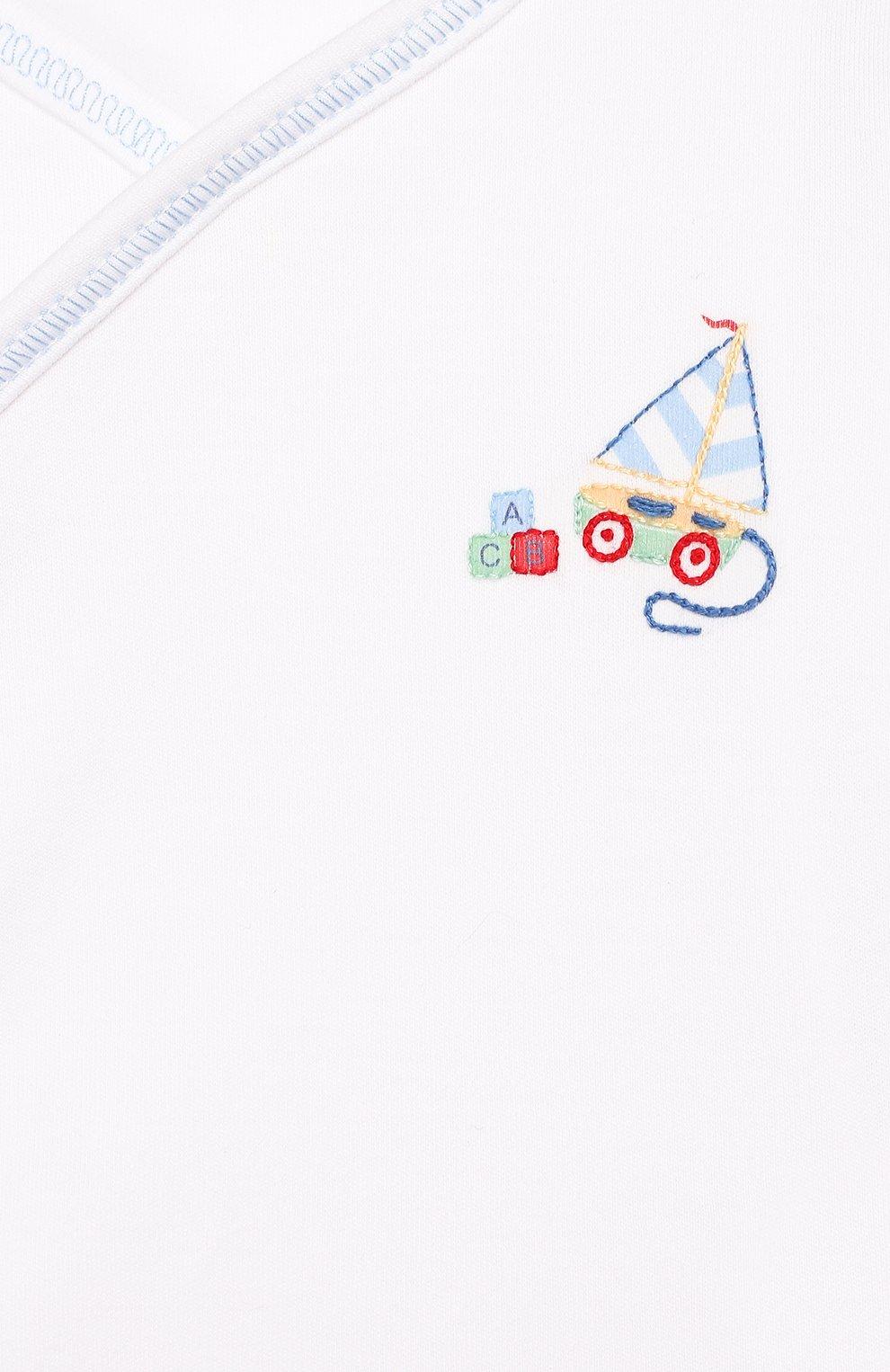 Детский комплект из распашонки и ползунков MAGNOLIA BABY голубого цвета, арт. 837-734P-LB   Фото 3
