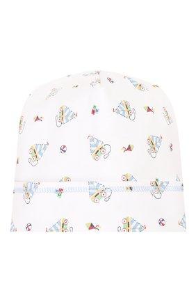 Детского хлопковая шапка MAGNOLIA BABY голубого цвета, арт. 837-50P-LB | Фото 1