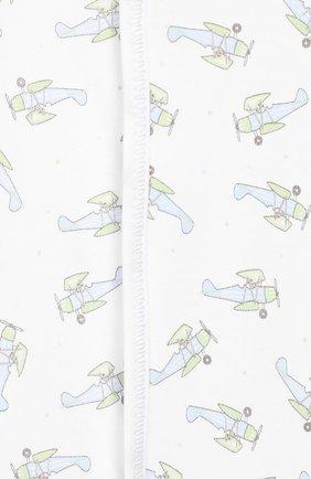 Детский хлопковый комбинезон MAGNOLIA BABY голубого цвета, арт. 597-402P-LB   Фото 3 (Рукава: Длинные; Материал внешний: Хлопок)