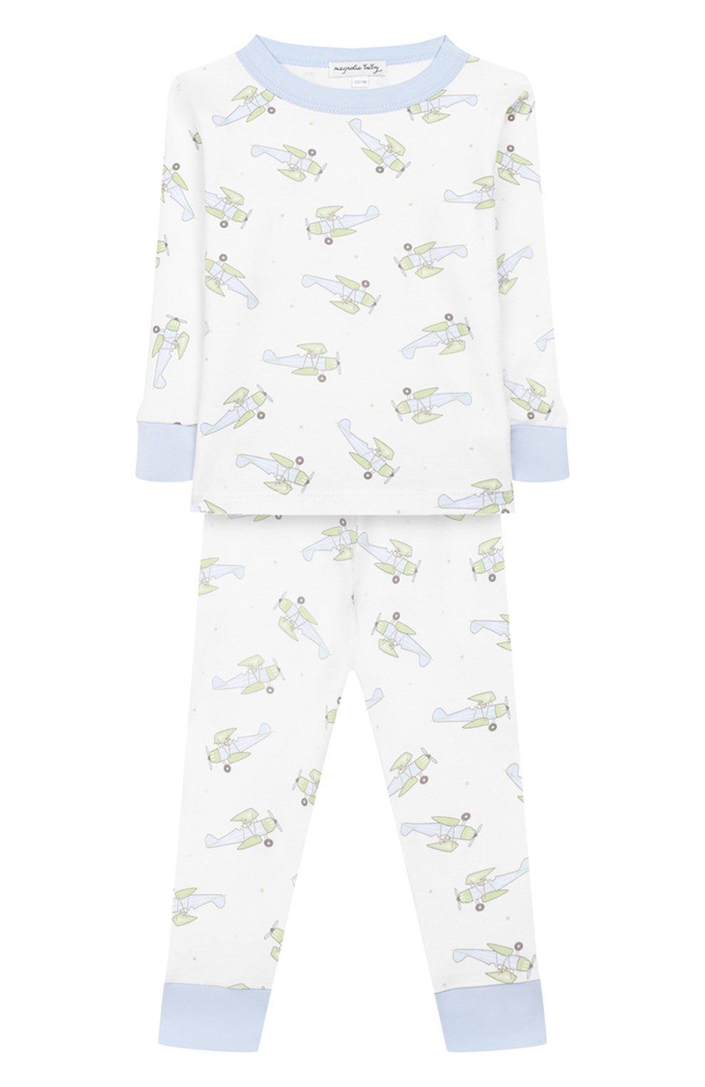 Детский хлопковая пижама MAGNOLIA BABY голубого цвета, арт. 597-LP-LB   Фото 1