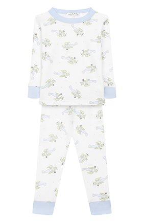 Детский хлопковая пижама MAGNOLIA BABY голубого цвета, арт. 597-LP-LB | Фото 1