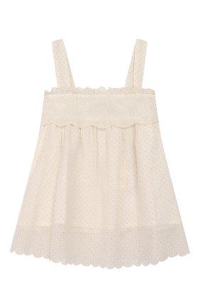 Детский комплект из топа и брюк TWINSET бежевого цвета, арт. 201GJ2QB1/12A-16A | Фото 2