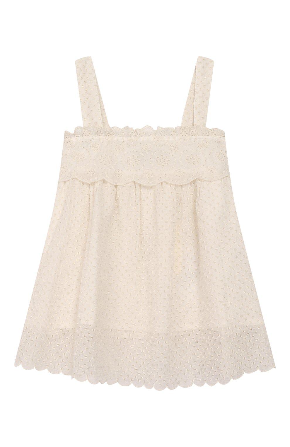 Детский комплект из топа и брюк TWINSET бежевого цвета, арт. 201GJ2QB1/6A-10A | Фото 2