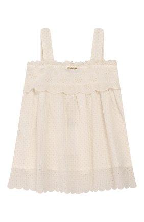 Детский комплект из топа и брюк TWINSET бежевого цвета, арт. 201GJ2QB1/6A-10A | Фото 3