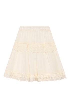Детская юбка TWINSET бежевого цвета, арт. 201GJ2462/6A-10A | Фото 1