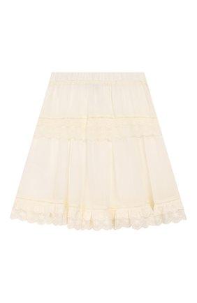 Детская юбка TWINSET бежевого цвета, арт. 201GJ2462/6A-10A | Фото 2