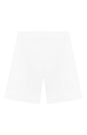 Детские хлопковые шорты TWINSET белого цвета, арт. 201GJ2071/12A-16A | Фото 2
