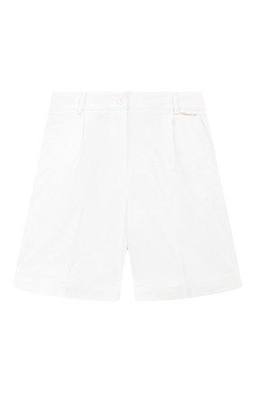 Детские хлопковые шорты TWINSET белого цвета, арт. 201GJ2071/6A-10A | Фото 1