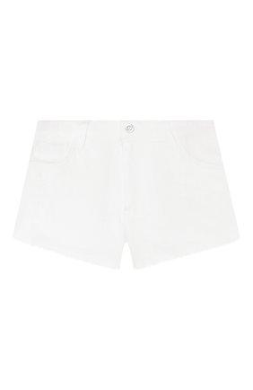 Детские хлопковые шорты TWINSET белого цвета, арт. 201GJ2031/6A-10A | Фото 1