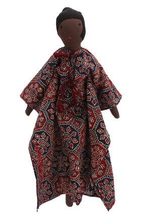 Детского декоративная фольклорная кукла KILOMETRE PARIS черного цвета, арт. D0LL-SUMBA | Фото 1