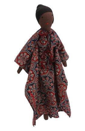 Детского декоративная фольклорная кукла KILOMETRE PARIS черного цвета, арт. D0LL-SUMBA | Фото 2