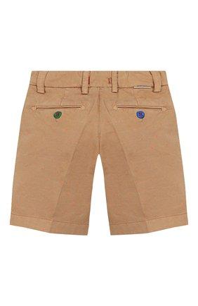 Детские хлопковые шорты BARONIO KIDS бежевого цвета, арт. S2105-G0LDSH | Фото 2
