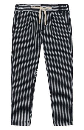 Детские хлопковые брюки BARONIO KIDS синего цвета, арт. S2091-SN0W | Фото 1