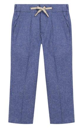 Детские хлопковые брюки BARONIO KIDS синего цвета, арт. S2050-SN0W | Фото 1