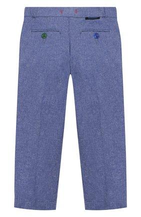 Детские хлопковые брюки BARONIO KIDS синего цвета, арт. S2050-SN0W | Фото 2