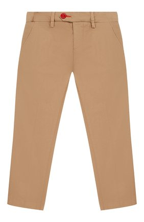 Детские хлопковые брюки BARONIO KIDS бежевого цвета, арт. S2007-PRINCE | Фото 1