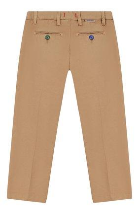 Детские хлопковые брюки BARONIO KIDS бежевого цвета, арт. S2007-PRINCE | Фото 2