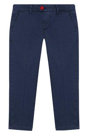 Детские хлопковые брюки BARONIO KIDS темно-синего цвета, арт. S2000-PRINCE | Фото 1