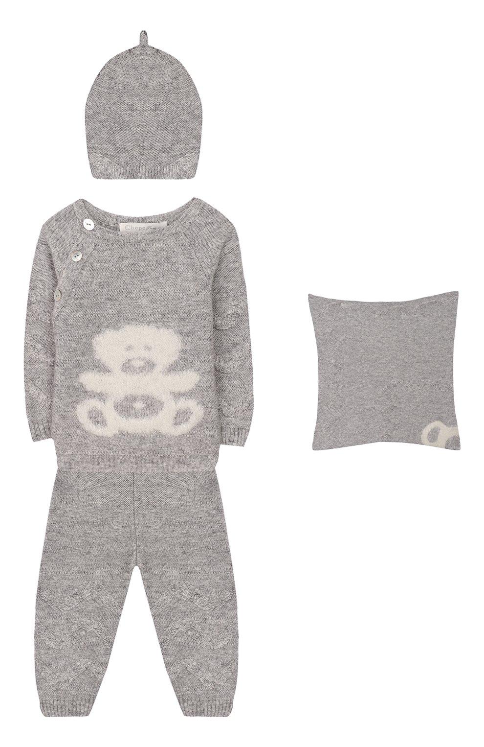 Детского комплект из 4-х предметов CHEPE серого цвета, арт. 371630 | Фото 1