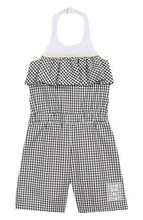 Детский хлопковый комбинезон SIMONETTA черно-белого цвета, арт. 1M1292/MC370/10-14+ | Фото 1
