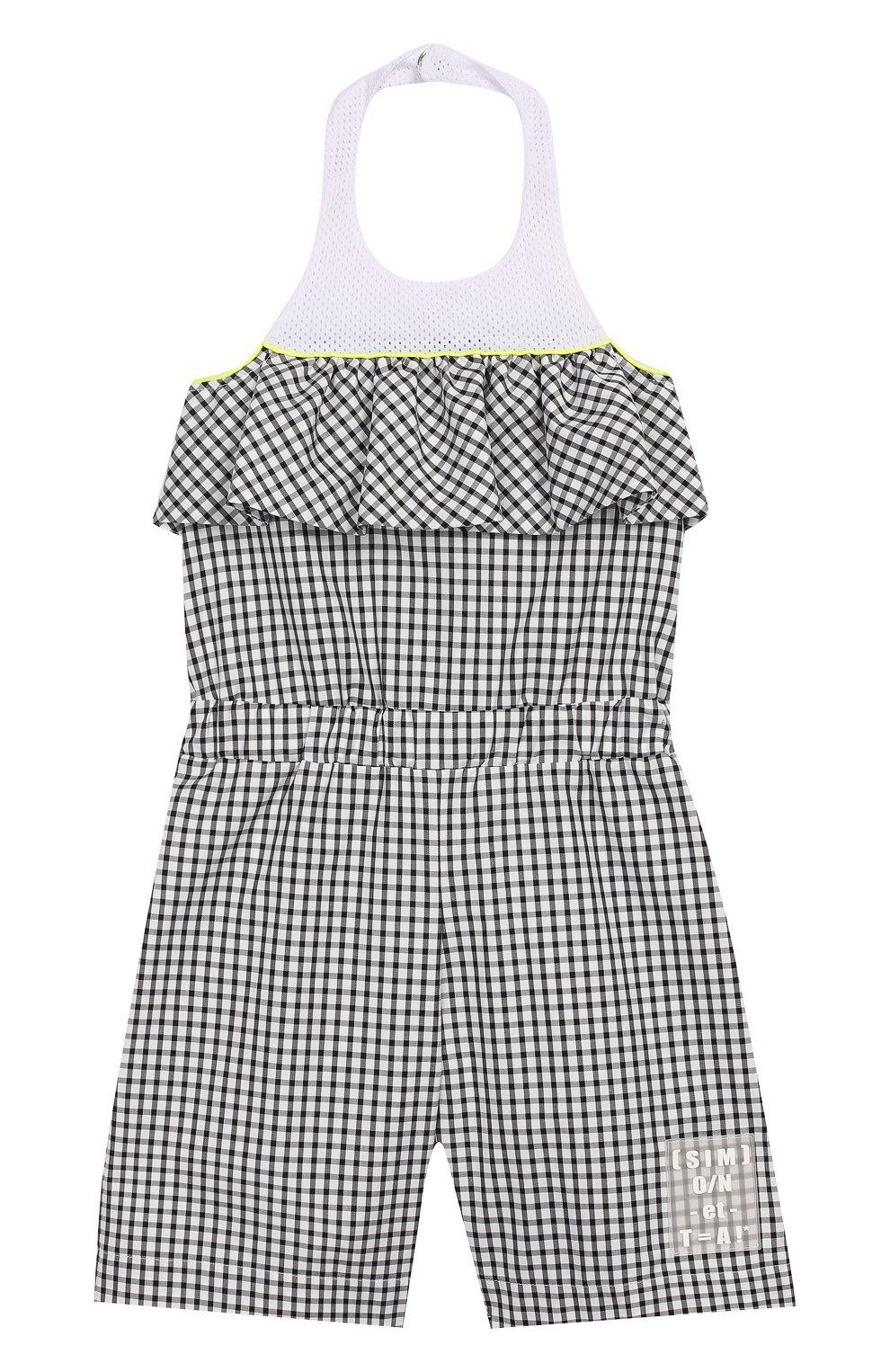 Детский хлопковый комбинезон SIMONETTA черно-белого цвета, арт. 1M1292/MC370/5-8 | Фото 1