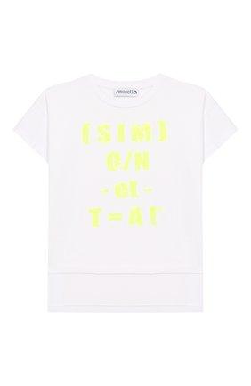 Детская хлопковая футболка SIMONETTA салатового цвета, арт. 1M8171/MC960/5-8 | Фото 1