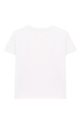 Детская хлопковая футболка SIMONETTA белого цвета, арт. 1M8181/MC960/5-8 | Фото 2