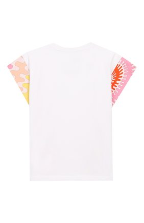 Детская хлопковая футболка EMILIO PUCCI белого цвета, арт. 9M8022/MX170/5-8   Фото 2