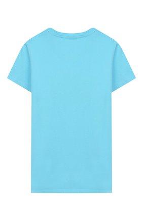 Детская хлопковая футболка MC2 SAINT BARTH голубого цвета, арт. STBK ELLY/ELLY001 | Фото 2