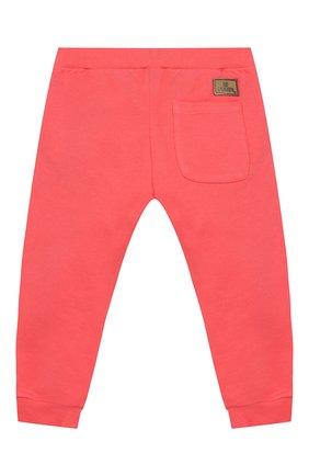 Детские хлопковые брюки FENDI кораллового цвета, арт. BFF130/5V0/3M-9M | Фото 2