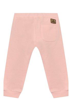 Детские хлопковые брюки FENDI светло-розового цвета, арт. BFF130/5V0/12M-24M | Фото 2