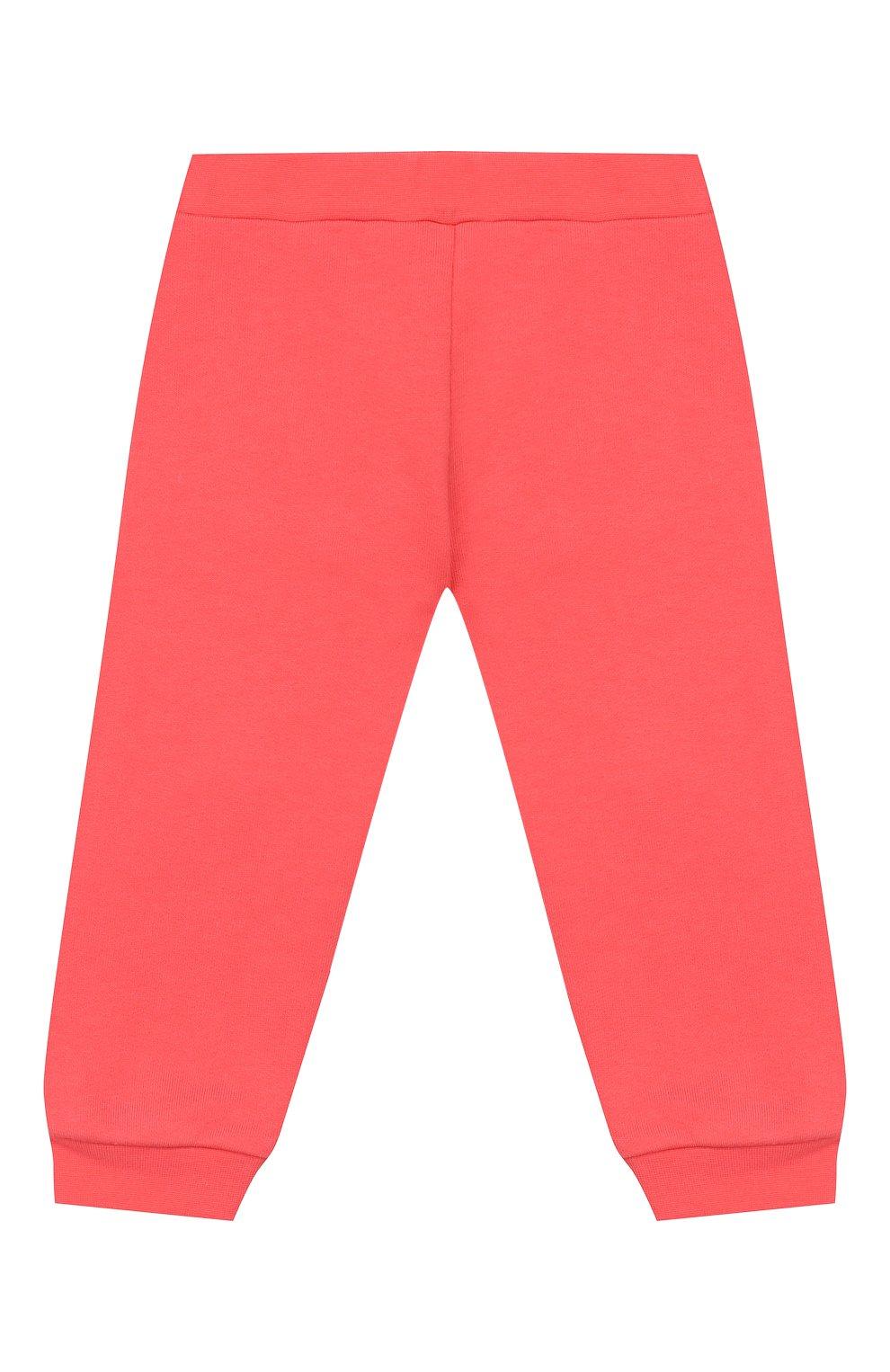Детские хлопковые брюки FENDI кораллового цвета, арт. BFF130/5V0/12M-24M | Фото 1