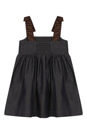 Женский хлопковое платье FENDI синего цвета, арт. BFB303/A7LW/12M-24M | Фото 2