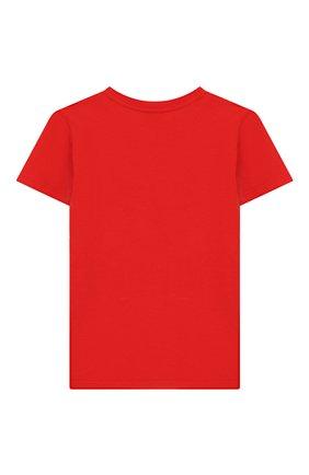 Детский хлопковая футболка GUCCI красного цвета, арт. 548034/XJB6F | Фото 2