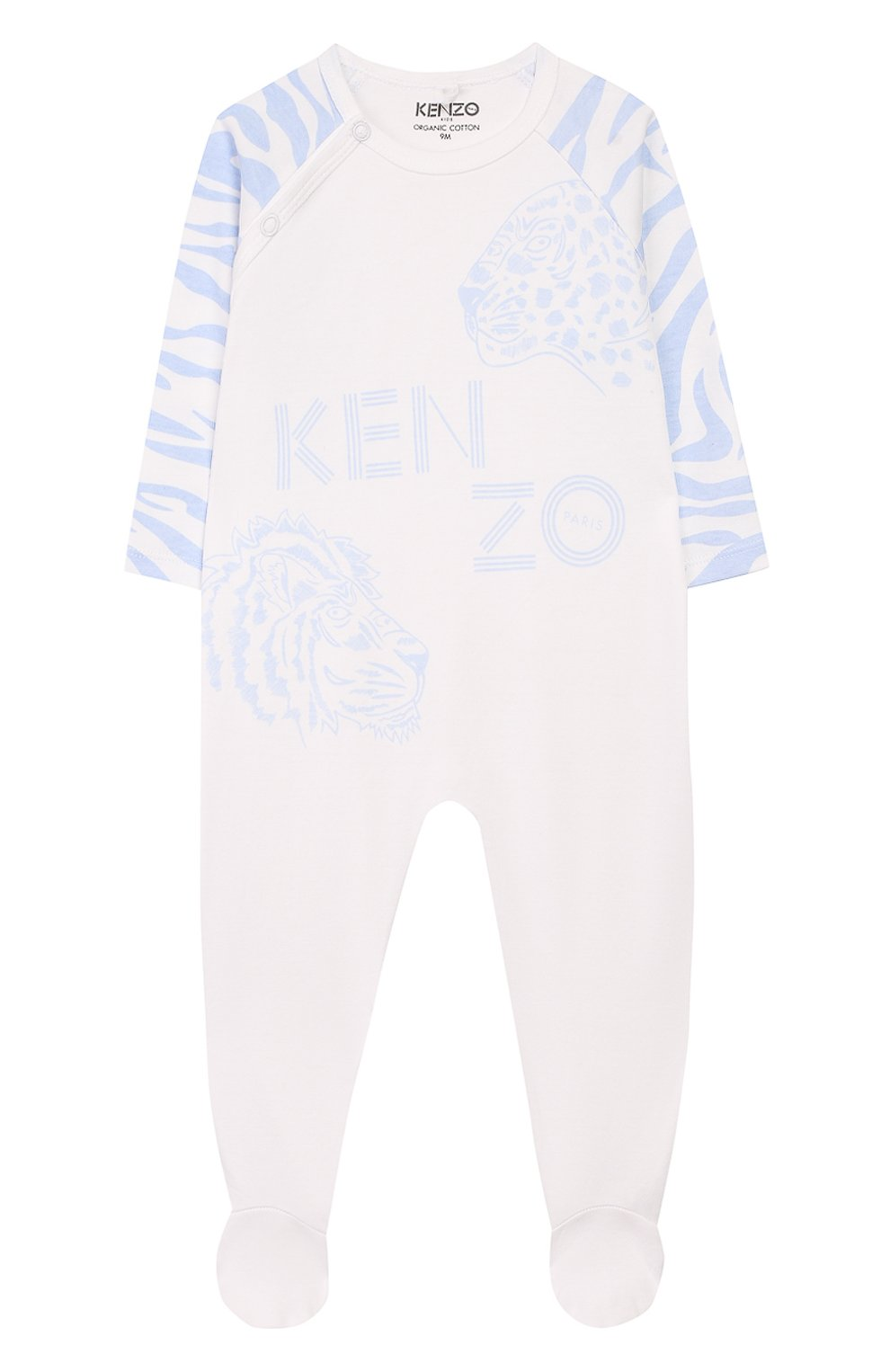 Детский комплект из комбинезона и шапки KENZO белого цвета, арт. KQ99513 | Фото 2