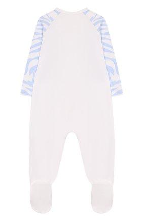 Детский комплект из комбинезона и шапки KENZO белого цвета, арт. KQ99513 | Фото 3