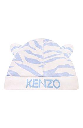Детский комплект из комбинезона и шапки KENZO белого цвета, арт. KQ99513 | Фото 4
