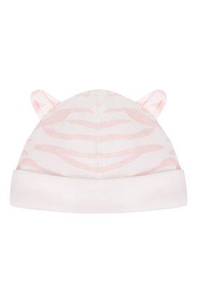 Детский комплект из комбинезона и шапки KENZO белого цвета, арт. KQ99013 | Фото 5