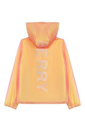 Детский ветровка BURBERRY желтого цвета, арт. 8027129 | Фото 2